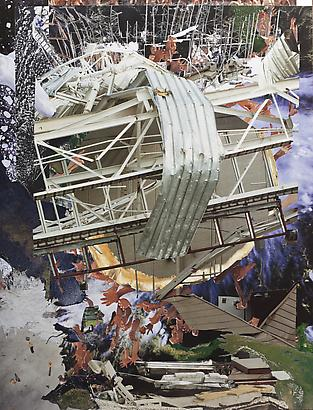 George Rahme <em>F-350</em>, 2010 26 x 20 in Paper collage