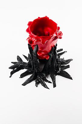 "Open Heart ""Black"", 2012 Resin 9.8 x 4.3 inches 24.89 x 10.92 cm"