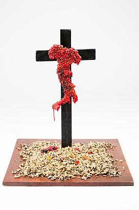 Italia in Croce (scale 1:15 Maquette), 2010 Urethane Resin, Wood and Stones 22 x 18 x 18 inches 55.5 x 45 x 45 cm