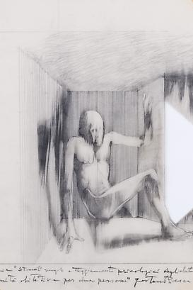 Habitat for Two People, Study of the Psychological Behavior of it's Inhabitants: Seven Sketches, 1971 Pencil on Tracing Paper 24 x 14.16 inches 60.96 x 35.96 cm
