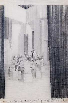 Commune for Twelve People, Study of the Psychological Behavior of it's Inhabitants: Five Sketches, 1971 Pencil on Tracing Paper 24 x 14.16 inches 60.96 x 35.96 cm