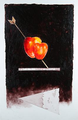 Heart Lamp, 1979 Pencil and Oil on Paper 39.7 x 25.9 inches 100.83 x 65.78 cm