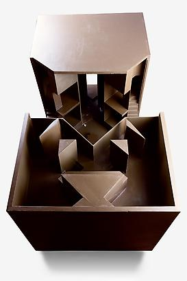 Commune for Twelve People (1:10 scale Maquette), 1971 Lacquered Wood 26.88 x 27.84 x 54.24 inches 68.27 x 70.68 x 137.76 cm
