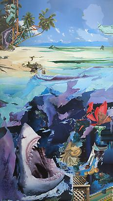 George Rahme <em>Great White Wonderland</em>, 2010 84 x 48 in Paper on board