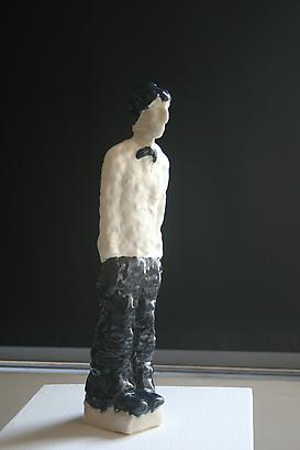 Marik Lechner The Waiter, 2010	   Porcelain  8 X 38 cm