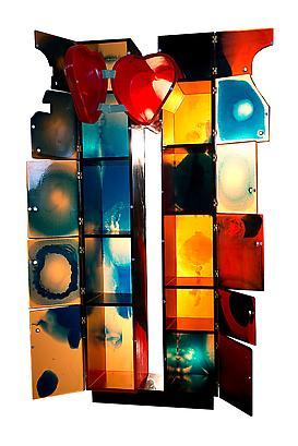 World Trade Center Open Heart (Open), 2013 Urethane Resin, Copper Hinges, Lacquered Wood