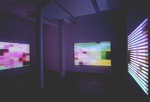 Chasing Rainbows Installation view at Sandra Gering Gallery 2004