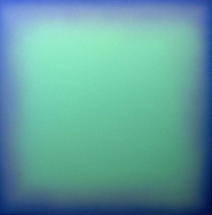 Postludio  (YT-07-141)  1998-2007 Acrylic on linen 100 x 100 cm  (39 1/3 x 39 1/3 in)