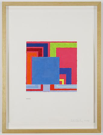Untitled, 2006 Acrylic & Day-Glo acrylic on digitally printed paper 21 x 16 inches