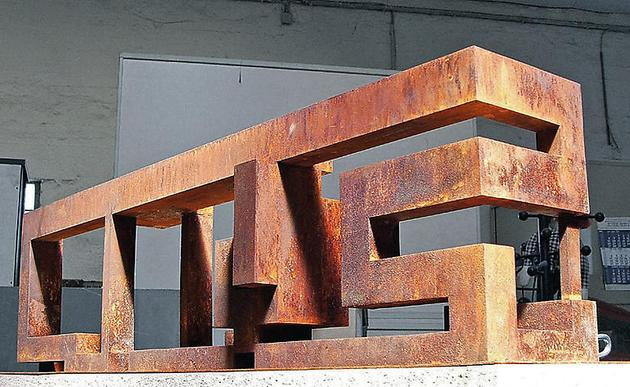ART-CITY, 2005 Corroded steel 107.3 x 32 x 27 centimeters