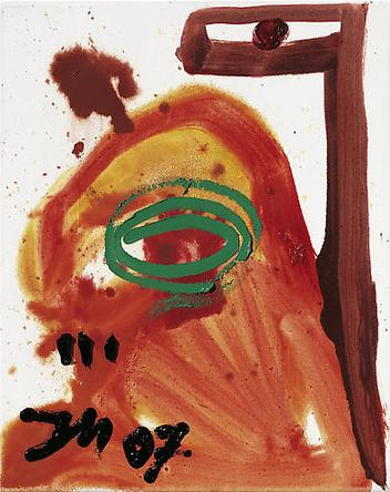 JONATHAN MEESE Susse Babycalamarie Stuehard 2007 Oil and mixed media on canvas 19 ¾ x 15 ¾ in
