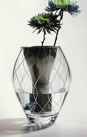 Duo Vase, 2003 Nambe