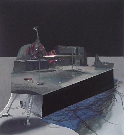 DEXTER DALWOOD Altamont, 2007 Oil on canvas 39 x 36 ½ inches Unique