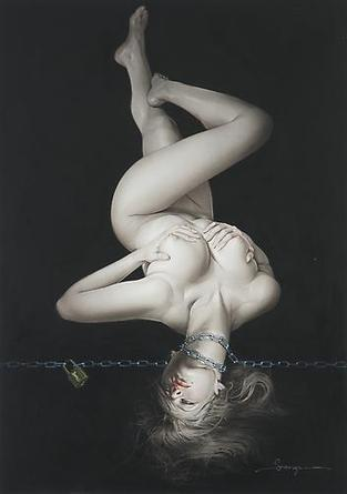 HAJIME SORAYAMA Untitled 1998 Acrylic on board 28 5/8 x 20 ¼ inches