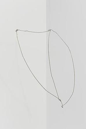 KATE SHEPHERD Banana Shield 2010 Coat hanger & 28 gauge steel wire 50 x 16 x 11 inches Unique