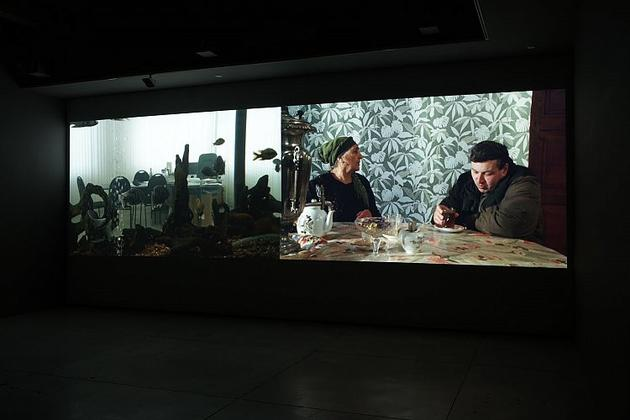 A Current History Installation view, 2007 2 channel HD projection 5.1 surround sound 39 minutes