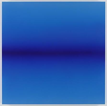 Blue Horizon 2010 Acrylic on linen 59 x 59 x 3 inches