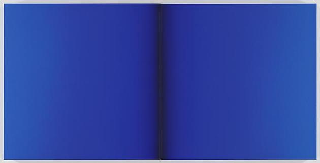 Blue Deneb 2009 Acrylic on linen  39 x 78 3/4 x 3 inches