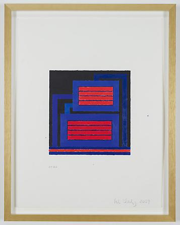 Untitled, 2010 Acrylic & Day-Glo acrylic on digitally printed paper 21 x 16 inches