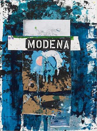Modena 2008 Acrylic and mixed media collage on paper 47 ¼ x 34 ¼ in
