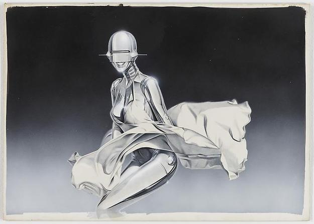 HAJIME SORAYAMA Untitled n.d. Acrylic on board 14 ¼ x 20 ¼ inches