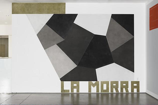 La Morra 2008 Pastel on wall 125 x 186 in Unique