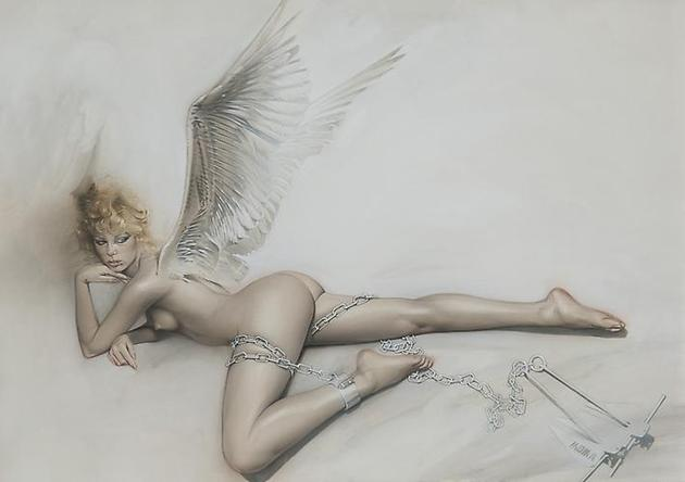 HAJIME SORAYAMA Untitled 2001 Acrylic on board 20 ¼ x 28 5/8 inches