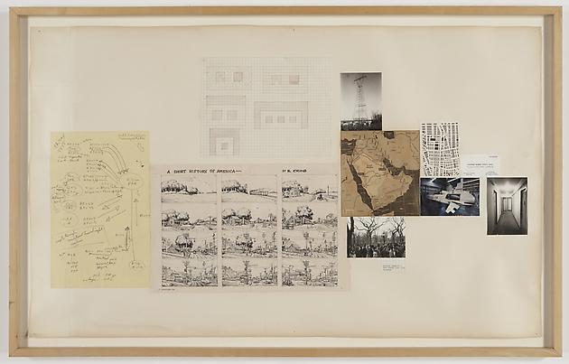 A Short History, 1981 Collage on paper 26 ½ x 43 inches