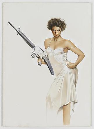 HAJIME SORAYAMA Untitled c1980s Acrylic on board 20 ¼ x 14 ¼ inches