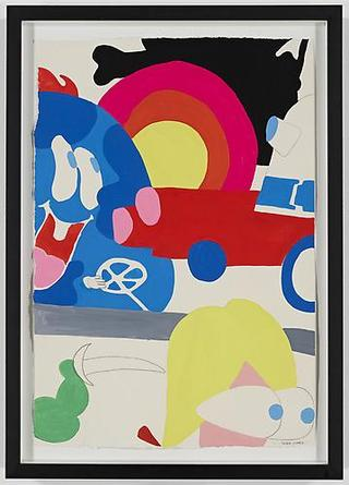 Race Around 2009 Gouache & graphite on paper 22 x 15 inches