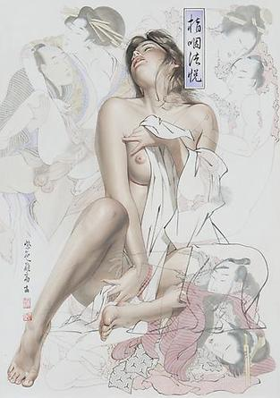 HAJIME SORAYAMA Untitled 2007 Acrylic on board 28 ½ x 20 ¼ inches
