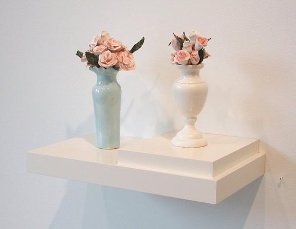 Fresh, Fresher, 2000 Porcelain, laquered shelf 13 x 17 ¾ x 10 ¼ inches