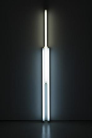 DAN FLAVIN Untitled  (To Rainer) 2 1987 Two 5-foot cool white, one 5-foot warm white fluorescent lights with fixtures 90 x 6 in Edition 2/5 Fabricated 3