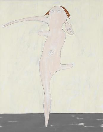 NICOLA TYSON Self Portrait Dancing 2000 Acrylic on linen 74 x 52 in