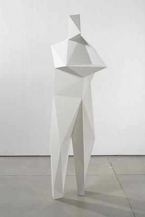 Yves 2007 White epoxy, polyurethane 190 x 56 x 45 cm  (74 x 22 x 17 ½ in) Unique