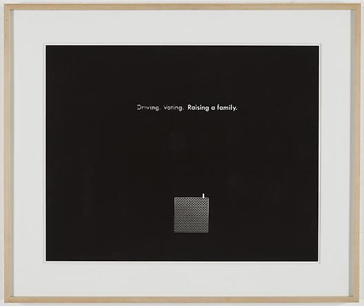 Driving Voting Raising a Family, 1988 Kodalith 17 1/5 x 22 ¼ inches