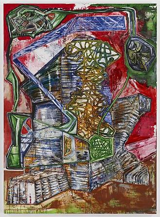 Steve DiBenedetto Occupant, 2009 Mixed media on canvas 96 x 70 inches