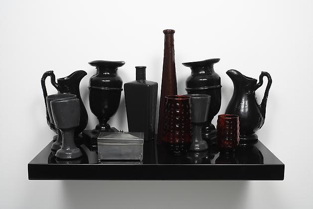 Distinguished Profile, 2004 Silicone rubber, glass, ceramic, MDF, lacquer 23 3/4 x 13 3/4 x 16 1/2 inches GLG727