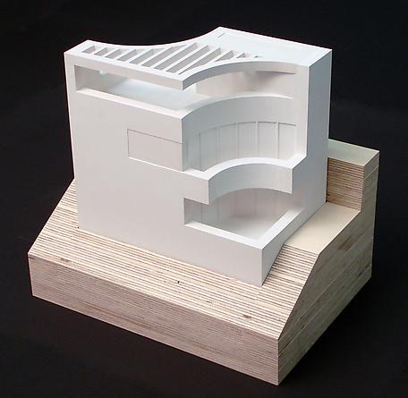 Model for Casa Blanco, 2009 Alabaster, birch ply 52 1/2 x 12 1/4 x 8 3/4 inches Unique GLG1224