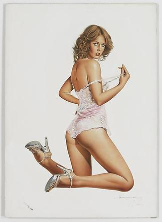 HAJIME SORAYAMA Untitled  c1970s Acrylic on board 28 5/8 x 20 ¼ inches
