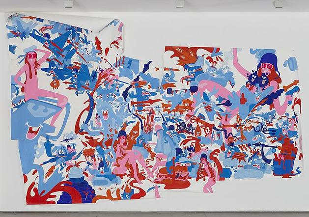 Don't Stop Get It Get It 2009 Gouache & graphite on paper 289 x 289 inches (variable)