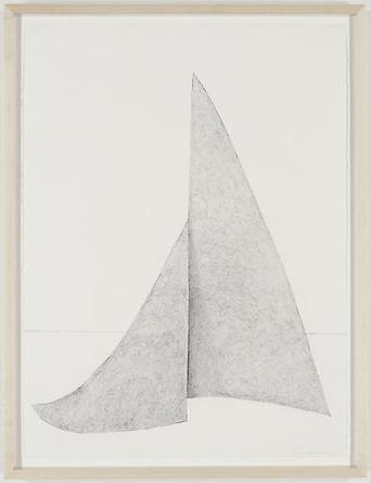 Drawing of Steel Sculpture 1969/2010 Graphite on paper 30 x 22 1/2 inches 33 x 25 1/4 inches (framed)