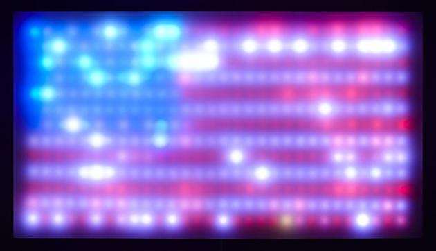 LEO VILLAREAL Flag 2010 LEDs, Plexiglas, custom software, electrical hardware, wood 18 x 32 x 5 ¼ inches Edition of 10