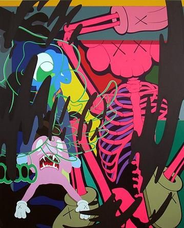 KAWS Untitled 2, 2007 Acrylic on canvas 60 x 50 inches