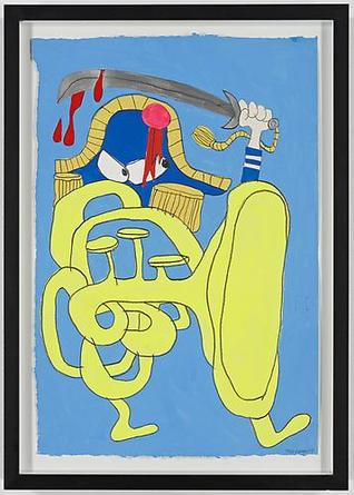 The General 2009 Gouache & graphite on paper 22 x 15 inches (irregular)