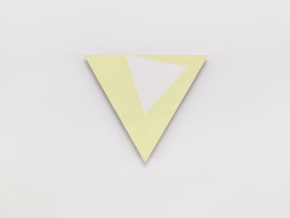 Angles (lemon), 2004 Oil and cold wax medium on linen over wood 21 1/4 inches each side SHI2252