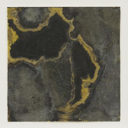 Contingency Jet (Amulet), 2008 Silver, liver of sulfur, varnish & beeswax on Arches paper 3 1/2 x 3 1/2 inches SGI2746