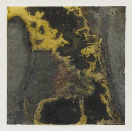 Contingency Jet (Transmission), 2008 Silver, liver of sulfur, varnish & beeswax on Arches paper 3 1/2 x 3 1/2 inches SGI2747