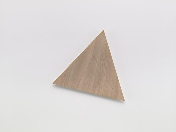Angles (Wood from 12 Rotations), 2008 Pencil on wood 21 1/4 inches each side SGI3198
