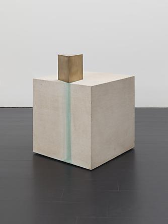 Notation VII, 2000/2008 Limestone, bronze, ammonium chloride copper sulfate 16 x 12 x 12 inches SGI2722